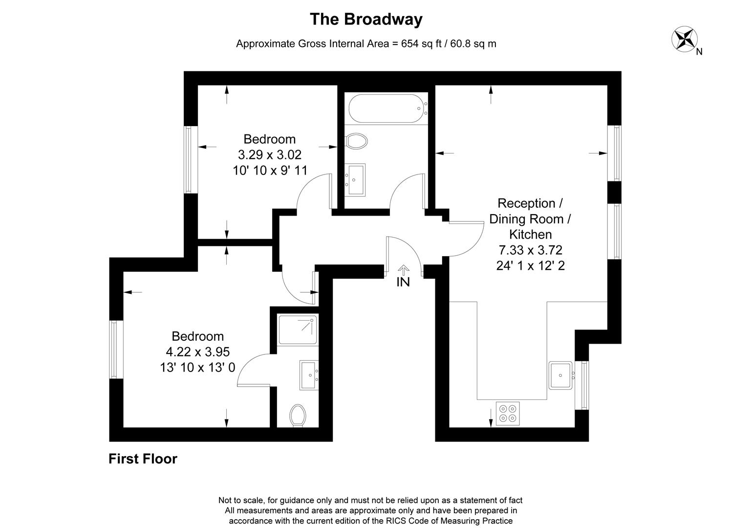 Floorplan for The Broadway, London